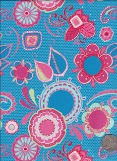 "Main Blue  ""Flower Child"" designed by Rosalie Dekker. (Quinlan)"