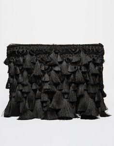 ASOS Mega Tassel Clutch Bag #perfectpresent #originalclutch