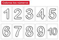 Actividades para Educación Infantil: Carteles de números