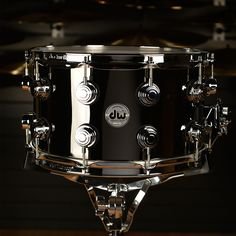 DW 8x14 Black Nickel Over Brass Rolled 1mm Snare Drum