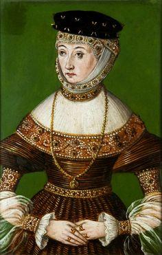 Portrait of Barbara Radziwiłł by Anonymous from Poland, ca. 1551 (PD-art/old), Muzeum Narodowe w Krakowie (MNK)