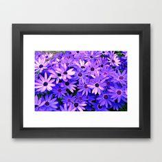 Purple flowers  Framed Art Print by seb mcnulty - $32.00