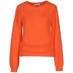 J.w.anderson Jumper ($275) ❤ liked on Polyvore featuring tops, sweaters, orange, orange top, long sleeve sweaters, jumper top, long sleeve jumper and j.w. anderson
