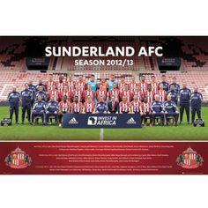 Sunderland AFC 2012-2013 Team Squad Poster new EPL Black Cats English Premier