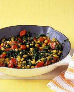 Spinach with Corn and Tomatoes Recipe on Yummly