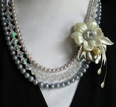 $28.00.  There will only ever be ONE!  Pearls Sparkles and Vintage Flower http://www.etsy.com/listing/150438747/pearls-sparkles-and-vintage-flower?ref=shop_home_active