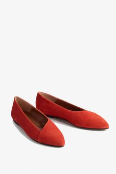 1585d0cc6235 Dafne Lava Red Lava Red Suede - Dafne from ATP Atelier in red suede. A slip  in sandal in classic shape with leather sole.