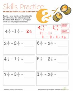 math worksheet : 1000 images about fractions on pinterest  fractions dividing  : Subtracting Mixed Numbers With Borrowing Worksheet
