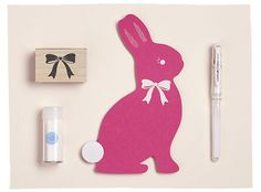 Die Cut Bunny Decorations are an easy Easter project, courtesy of Paper Source!