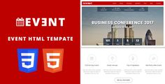 EVENT - Conference and Event HTML5/CSS3 Template. . Event is a Powerfull HTML5 template, that both works great on your Personal Computer, or on your tablet and mobile devices. Event is a HTML template for event, business, conference, and meeting websites. It also can be used for any other site    It's got some powerfull and eye cathing features and
