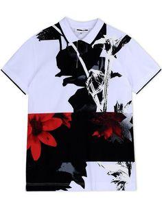MCQ ALEXANDER MCQUEEN Polo Shirt. #mcqalexandermcqueen #cloth #shirt