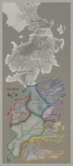 Seven Kingdoms of Westeros #songoficeandfire