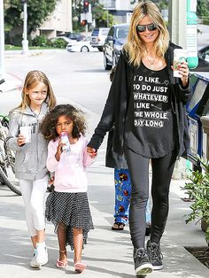 Hollywood's Most Stylish Moms: When not glamming it up on the red carpet, Heidi Klum chooses easy sporty pieces to take her kids to their many activities.