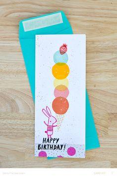 Gelato Birthday Card by pixnglue at @studio_calico