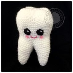 Tooth Fairy Free Crochet Pattern - Sweet Tooth amigurumi from Hooked On Patterns www.hookedonpatterns.com