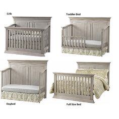 "Baby Cache Vienna 4-in-1 Convertible Crib - Ash Gray - Baby Cache - Babies ""R"" Us"