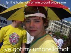 I have an umbrella hat!
