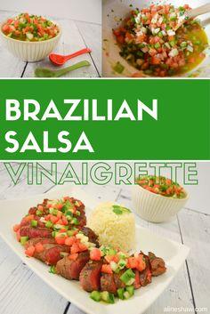 Molho a Campanha - Brazilian Salsa Vinaigrette Recipe Barbecue Grill, Barbecue Recipes, Grilling Recipes, Salsa Barbecue, Barbecue Chicken, Healthy Cooking, Healthy Snacks, Cooking On The Grill, Cooking Time