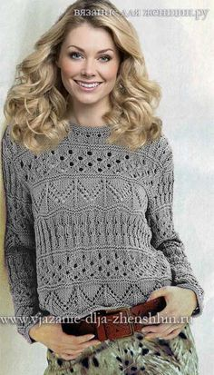 """[ """"How to tie a pullover with knitting needles"""", """"Love the stitches in this sweater"""" ] # # #Knitting #Ideas, # #Lace #Knitting, # #Knitting #Needles, # #Knitting #Patterns, # #Knitwear, # #The #Stitch, # #Sweater #Patterns, # #Pin #Pin, # #Knit #Sweaters"""