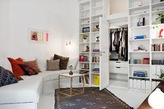 Witte inbouwkast - Scandinavisch interieur