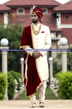 Best Wedding Couture for Groom by Parsh Ethnic Wear. Contact us now on or for all wedding couture and accessories Wedding Kurta For Men, Wedding Outfits For Groom, Wedding Suits, Wedding Dress, Sherwani Groom, Mens Sherwani, Wedding Sherwani, Latest Kurta Designs, Mens Kurta Designs