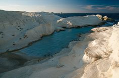 Sarakiniko is a beach on Milos Island, Greece and  one of the most photographed Aegean landscapes.