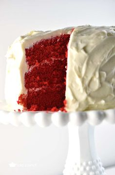 Red Velvet Cake Recipe from addapinch.com