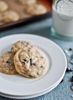 """Mini coconut chocolate chip cookies from How Sweet It Is - Eat Your Books is an indexing website that helps you find & organize your recipes. Click the """"View Complete Recipe"""" link for the original recipe."""