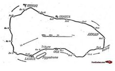 The Circuito Lasarte, an 11-mile motor racing road course in the Basque Country near San Sebastián on the Bay of Biscay used for the Spanish Grand Prix in 1926–30 and 1933–35