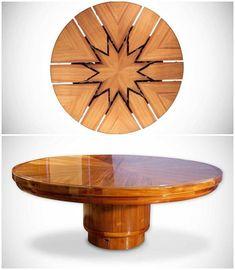 Fletcher Burrell-Taylor Ltd lleva tiempo fabricando la mesa redonda más famosa de todas, que amplía su tamaño manteniendo en todo momento su forma circular.