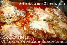 Chicken Parmesan Sandwiches from A Slob Comes Clean