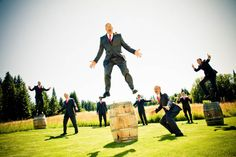 10 Fun and Crazy Wedding Images: Bridesmaids and Groomsmen