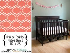 Grapefruit Pink Infant or Toddler Fitted by PrimalVogueHomeDecor