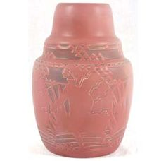 overbeck pottery | Lot 22: Overbeck Arts Crafts Pottery Vase Native American