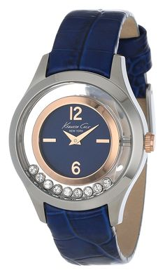 Kenneth Cole New York Women's KC2784 Transparency Blue and Rose Gold Floating Stone Dial Watch ** Check out this great product. (This is an Amazon Affiliate link and I receive a commission for the sales)