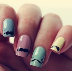 Mustache Nails- RO! CHECK THESE OUT! HAHA