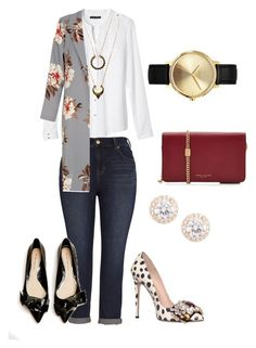 """""""Dinner With Besty"""" by mcasspr ❤ liked on Polyvore featuring Melissa McCarthy Seven7, Banana Republic, GEDEBE, Marc Jacobs, WithChic, Nixon and Nadri"""
