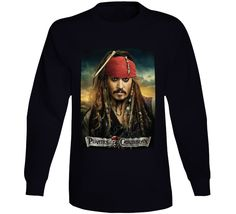 Pirates Of The Caribbean Long Sleeve Movie T Shirts, Pirates Of The Caribbean, Gifts For Friends, Graphic Sweatshirt, Sweatshirts, Long Sleeve, Prints, Sweaters, Movies