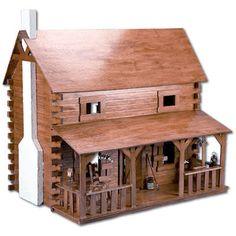 So cute! Greenleaf Dollhouses Creekside Cabin Dollhouse Kit