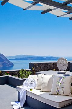 There's nothing but blue sky between you and the Aegean Sea on the Master Suite's Balcony. #Jetsetter