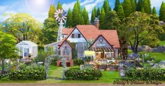 Sims 4, Cabin, House Styles, Homes, Home Decor, Farmhouse, Sims House, Houses, Decoration Home