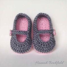 Crochet Baby Shoe by HannahMaysCrochet on Etsy