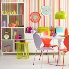 Fluoro-bright kitchen-diner   Colourful decorating ideas   housetohome.co.uk