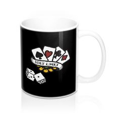 Wish someone good luck with this stylish 'Stay Lucky' mug. Good Luck Gifts, Mugs, Stylish, Black, Black People, Tumblers, Mug, Cups