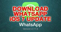 Download WhatsApp für iOS 7 ist ENDLICH DA!  - http://apfeleimer.de/2013/12/download-whatsapp-fuer-ios-7-ist-endlich-da - ENDLICH! Der Download bzw. das Update von WhatsApp 2.11.5 fürs iPhone – umgangssprachlich: WhatsApp für iOS 7 – ist endlich im App Store gelandet. Der Download von WhatsApp für iOS 7 bringt endlich das Update der Benutzeroberfläche im iOS 7 Design mit und kann noch mit einigen neuen F...