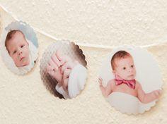 Foto-Girlande mit 8 Fotos von KlebBlatt auf DaWanda.com