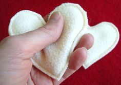 DIY Hand Warmers (They are filled with rice. Just microwave for 30 seconds and then slip into coat pockets to keep hands warm for up to an hour.)