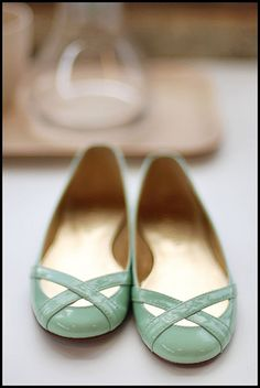 Pretty mint ballet pumps