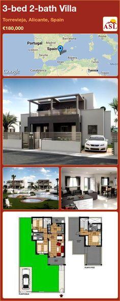 3-bed 2-bath Villa in Torrevieja, Alicante, Spain ►€180,000 #PropertyForSaleInSpain