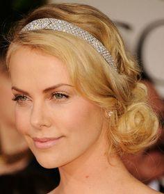 Charlize Theron diamond tiara Cartier